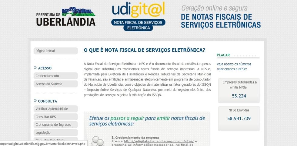 Nota Fiscal Uberlandia