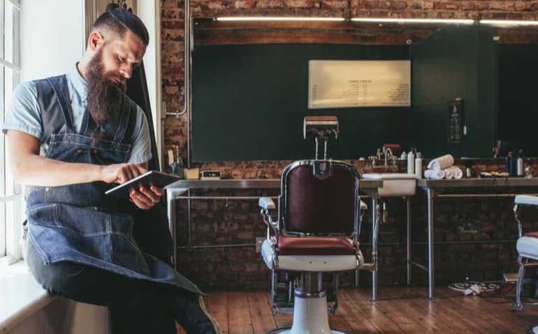 Tendência da barbearia moderna
